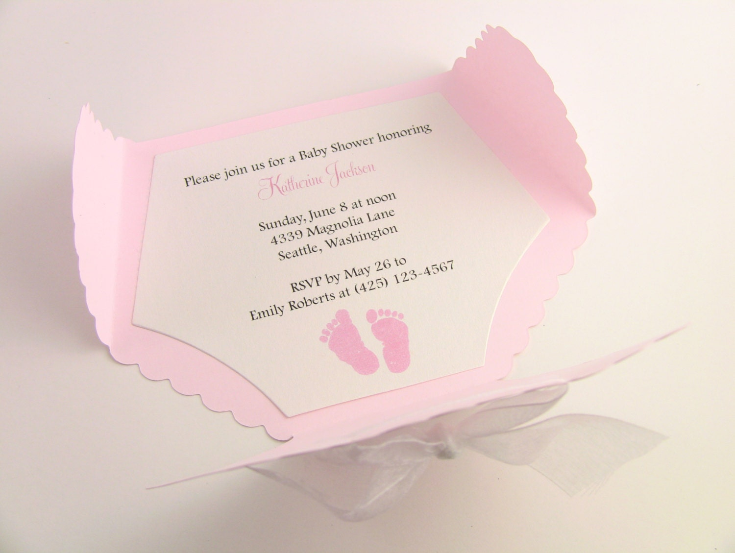 Customize any color 10 diaper baby shower invitation thank zoom filmwisefo