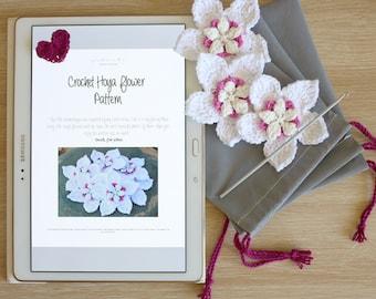Crochet Hoya Flower PATTERN - Instant Download PDF