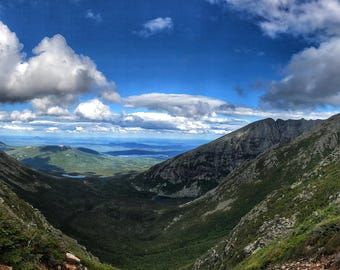 Saddle Trail View - Mount Kathdin - Baxter State Park - Panoramic Photography