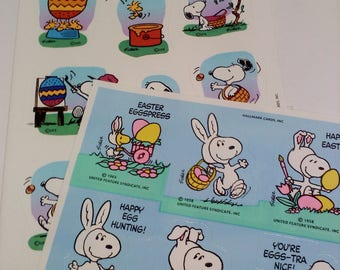 STICKERS-Vintage Peanuts, 2 Sheets