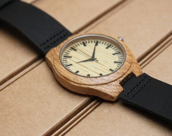 Wooden personalized watch O_027 FREE ENGRAVING