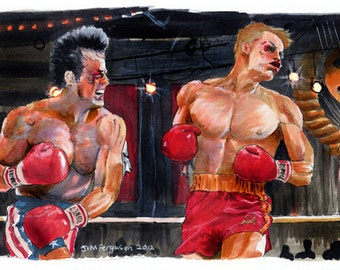 "Rocky IV - I Must Break You 5""x11"" Poster Print"