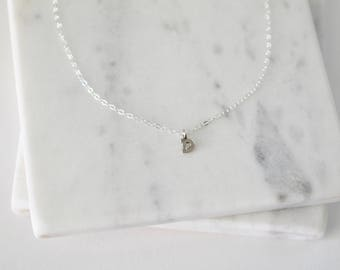 Sterling Silver Initial D Necklace, Dainty Initial Necklace, Tiny Initial Charm Necklace, Silver Letter D Necklace, Monogram Jewelry
