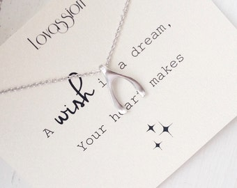 Wishbone Necklace, tiny wishbone necklace, small wishbone necklace, dainty wishbone necklace, silver, gold, wishbone, necklace