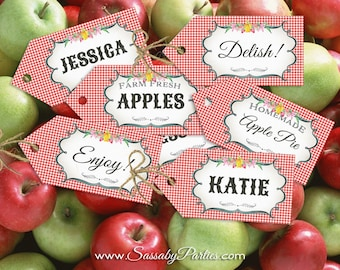 Farmers Market Party & Food Tags - INSTANT DOWNLOAD - Partially Editable, Printable, Birthday Decorations, Decor, Name Tags, Thank You Tags