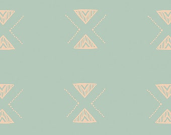 Triangular Reflection, Garden Dreamer, Maureen Cracknell Art Gallery Fabrics, modern blender, fabric by the yard, woven, blue, sky fabric