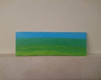 Modern Art, Long Acrylic Painting, Wall Art on Canvas