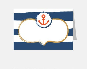 Nautical Buffet Labels or Name Cards (DIY Printables)