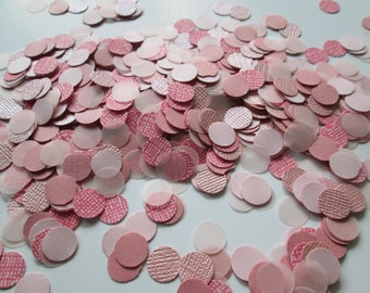 Paper Confetti >> shades of pink, confetti, tablescape, party accessories, party supplies, party decor