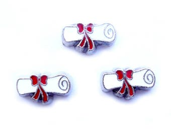 Diploma Floating Charm for Glass Memory Locket FC1 - 1 Charm