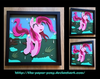 "12"" x 12"" Wet Mane Pinkie Pie Shadowbox"