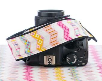 Chevron Camera Strap, Pastel Chevron, Stripe, Polka Dot, SLR, 116 c