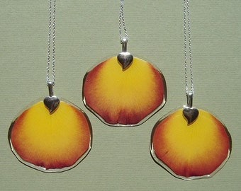 Heirloom Rose Petal Pendant made from Your Rose