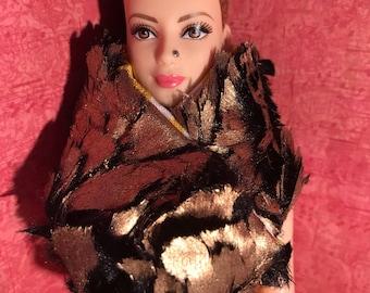 "HautePoppet faux fur scarf/wrap for 12"" fashion dolls"