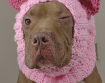 Dog Snood Pink Pig Made to Order