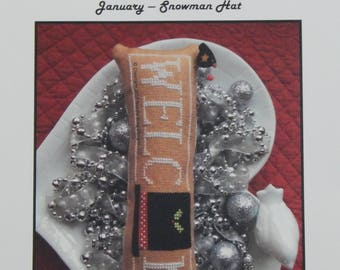 Wee Welcome's January - Snowman Hat by Needle Bling Designs