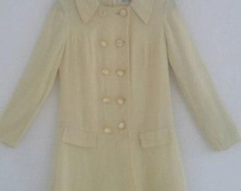 vintage 60s linen coat