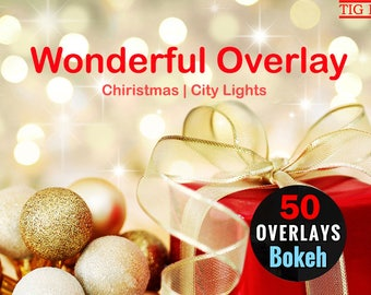 50 Bokeh photo overlays Holiday Christmas, bokeh overlays, holiday photo overlays for Photoshop, lights overlays, bokeh city, bokeh colorful