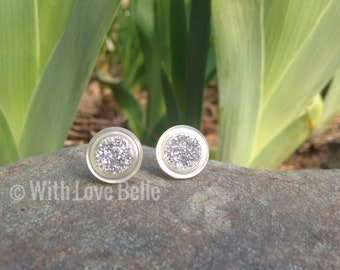 Silver Vintage Button Earring Set (small)