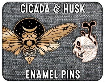 Coey: Cicada and Husk (Enamel Pins)