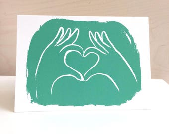 Love heart hands- Valentines card