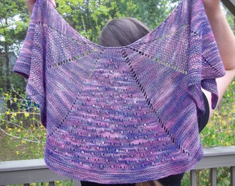 Masquerade Shawl Pattern - Pattern Only - Digital Download