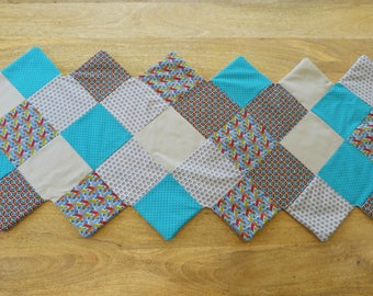 Zig zag patchwork  table runner