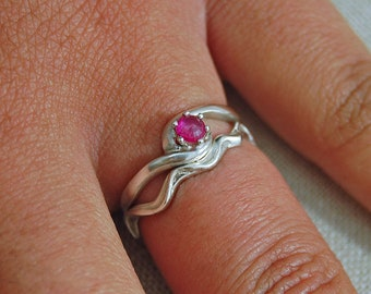 Pembe - Pink Sapphire Ring, pink sapphire gemstone, pink sapphire engagement ring, September birthstone ring, diamond alternative ring, gift