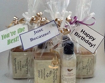 Soap & Lotion Gift Bag/birthday gift/hostess gift/co-worker gift