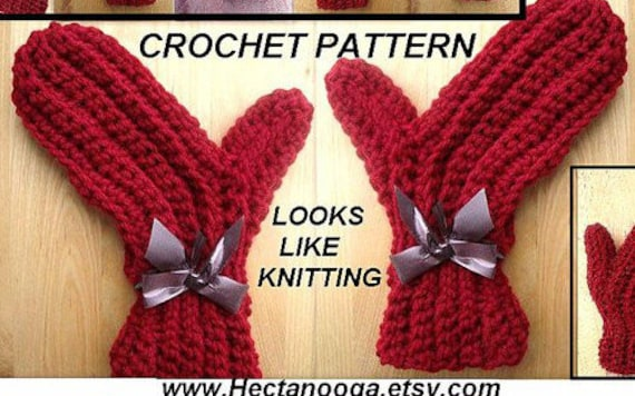 Mittens Crochet Pattern 120 Size 2 To Adult X Large