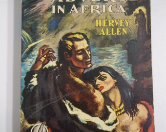Anthony Adverse In Africa by Hervey Allen Dell Mapback #283 1949 Historical Paperback Book