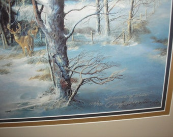 Signed Gary P. Miller Print (Shadows of Winter)1997