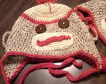 Adult Sock Monkey Hat