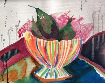 WATERCOLOR ORIGINAL Painting, Original Watercolor Painting, Pears, WATERCOLOR, original, painting, abstract, modern