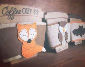 Handmade Coffee Cozy, Coffee Sleeve, Coffee, Coffee Cozy, Gift