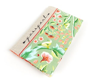 Pretty Embroidered Passport Holder Ladies Fancy Floral Passport Book Cover Unique Travel Gift Ideas for Woman Mom