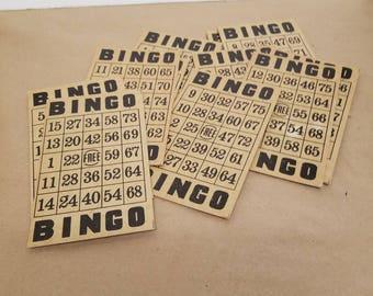 Set of 20 Vintage Bingo Cards