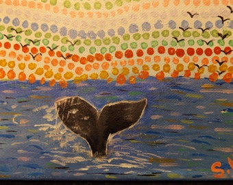 Whale tail painting