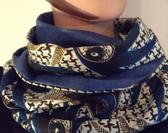Denim and wax cotton unisex Snood certifies