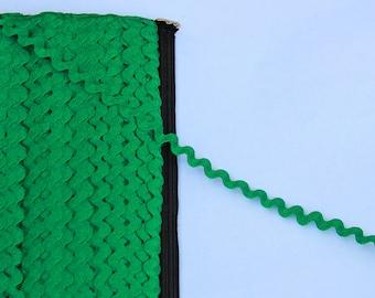 1 yard or more Green Ric Rac trim - Green trim - Green Ric Rac sewing notion
