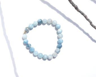 TIDAL / Aquamarine • 14k Gold / Crystal Bracelet