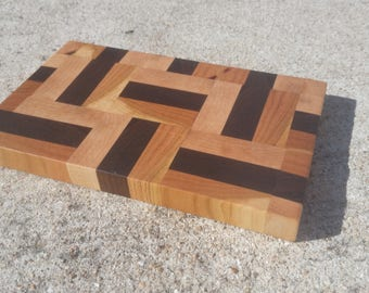 Small End Grain Cutting Board - Imperfect Pattern