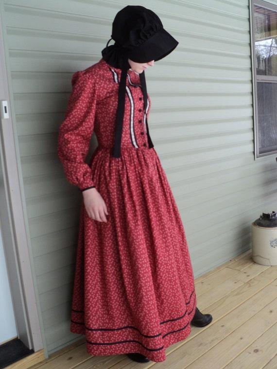 Old fashion prairie dress for women