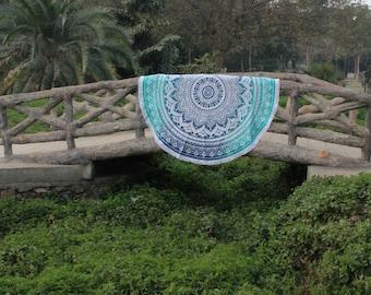 Mandala Roundie Tapestry Round Beach Blanket Mandala Tapestry Indian Round Beach throw Hippie Blanket Bohemian Bedding decor Meditation mat