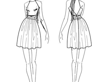 Custom made Vintage Dress -Dress in Your Choice of Fabric