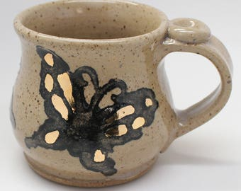 Butterfly Mug, Ready To Ship, Real Gold Luster