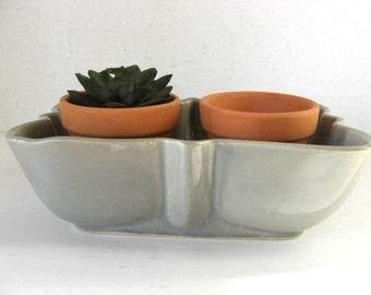 Planter Vintage Sage Green Ceramic