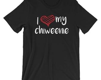 I Love My Chiweenie T-shirt Dog Lover Tee