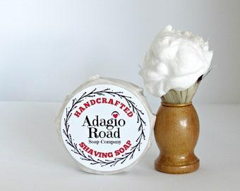 101 UNSCENTED Kokum Tallow Shaving Soap, Italian Cream Style, Shaving Puck