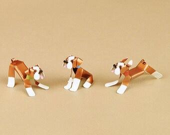 English Bulldog Puppy Dog Sculpture Handmade Copper Miniature Collectible Art, English Bulldog Art, English Bulldog Figurine